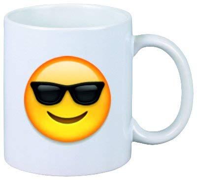 wenyige8216 Tasse Gesicht mit Sonnenbrille aus Keramik - Größe: Ø8,5 H9,5 cm - Kaffeetasse - Teetasse - Weihnachtsgeschenkidee