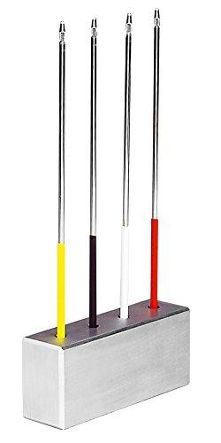 neoLab 1-2118 Ständer für Impfösenhalter, Aluminium, 140 x 40 x 60 mm