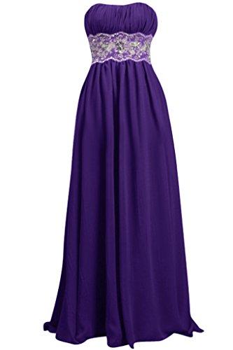 Toscana sposa chic Spalla Libero Chiffon sera, abiti di lunghezza damigelle vestiti party Ball Prom abiti Violett