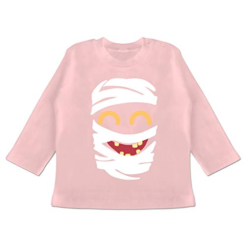 Karneval und Fasching Baby - Mumie Karneval Kostüm - 18-24 Monate - Babyrosa - BZ11 - Baby T-Shirt Langarm