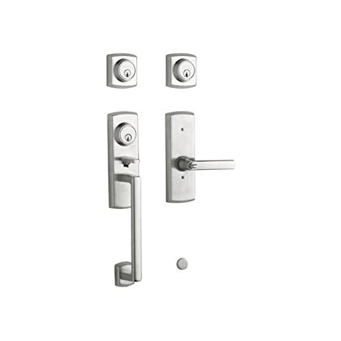 Baldwin 85385.264.2DCL Soho Two Point Lock Left Hand Handleset with Soho Lever, Satin Chrome by Baldwin