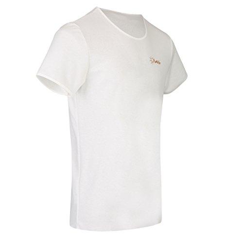 TanMeOn Durchbräunendes T-Shirt für Herren, T-Shirt braun Werden, Schnitt Rundhals, Farben: Weiss, Blau oder Grau, Größen S, M, L, XL, XXL (Weiß, M) (T-shirts Braune)