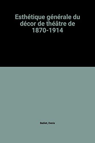 Esthétique générale du décor de théâtre de 1870-1914