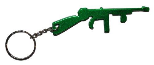 Komonee Maschinenpistole Grün Flaschenöffner Schlüsselring