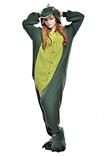 Regenboghorn Unisex Einhorn kostüme, Schlafanzug, Pyjama,für das Halloween ,Karneval und Weihnachten mit der Kapuze (L, Dinosaurier)