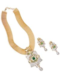 MTC JEWELLRY Gold Plated Necklace Earrings Sets Beautiful Fashion Jewelry Traditional Indian Silver & Gold Plated
