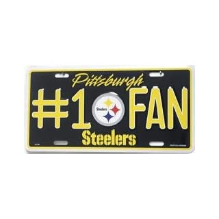 Dale Earnhardt Pittsburgh Steelers Number One Fan License Plate