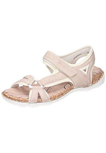 Rieker Damen 65479 Geschlossene Sandalen, Pink (Rose Reinweiss), 38 EU 4d443e0f5a