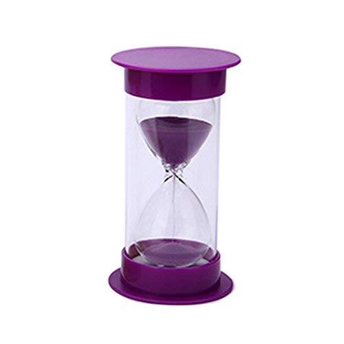 Zeiger Sand Timer Sanduhr mit Schutz für Küchen-Timer und die Zeit zu 5Minuten 10Min 30min 45min, 60min 30 Minutes violett