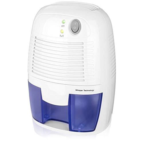 Yue668 Tragbarer elektrischer Halbleiter-Luftentfeuchter Mini Tragbarer Haushaltslufttrockner Trockenmittel Feuchtigkeitsabsorber Geräuscharmer Schrank-Luftentfeuchter 500ML (Weiß)
