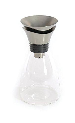 Berghoff 3700473 Carafe à vin Verre/Acier Inoxydable/ABS/Silicone Transparent 13 x 13 x 25,5 cm