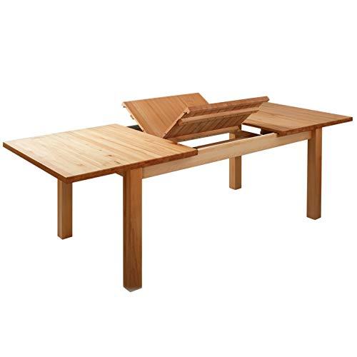 Krok Wood Esstisch Massivholz Buche 100{10efac2d5ee8d81bc87e52727070f4c6b4098a7e92355ce6df590c51b9477ebc} FSC London Klapptisch Esszimmertisch Massivholz Tisch (160 x 90 x 75 cm) (228(160+68) x90x75 cm)