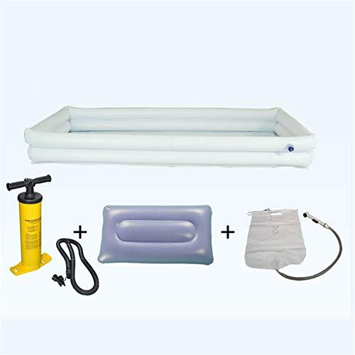 WLIXZ Badewanne für Patientenbett, Shampoo-Becken, Aufblasbare Badewanne für alte Menschen, Pflegeprodukte,2