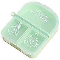 Grüne tragbare Mini-Medizin-Box Portable Kit Dispenser Box preisvergleich bei billige-tabletten.eu