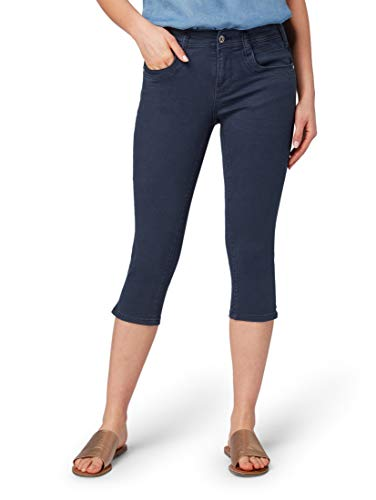 TOM TAILOR Damen Alexa Capri Slim Jeans, Blau (Sky Captain Blue 10668), W26 Blue Denim Capri-jeans