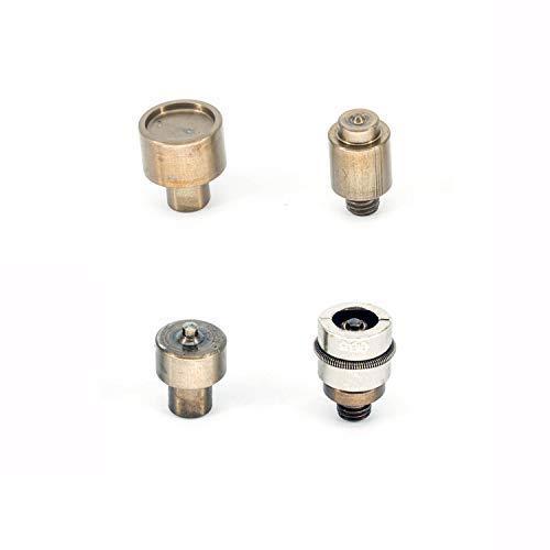 Trimming Shop 15mm Groß Ring Druckknöpfe Befestigung Schablonen Set Passend für Zyt Zange, Werkzeuge für Schnapp Befesstiger,Bekleidung Reparatur,Leder Handwerk,Ersatz -