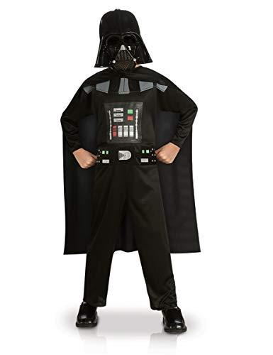 Generique - Darth Vader-Kinderkostüm Star Wars-Lizenz schwarz 104/116 (5-6 Jahre)