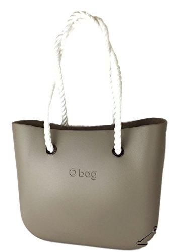 Borsa o bag roccia+manici lunghi corda bianchi+sacca
