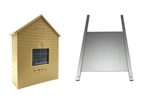 *Metalltür + Automatische Huhn Haus Tür öffnen / schließen Elektronischer Pförtner*