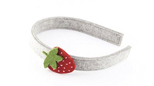 Erwachsene Erdbeer Für Kostüm Mädchen - Haarreif aus Metall ummantelt mit hochwertigem Filz (100% Wolle) für Kinder und Erwachsene verziert mit einer Erdbeere und kleinen Rocailles, Geschenk, Einschulung, Kostüm, Fasching, Karneval