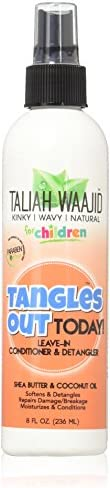 Taliah Waajid Children Tangles Out Today Leave-in Conditioner & Detangler, 8 Ounce