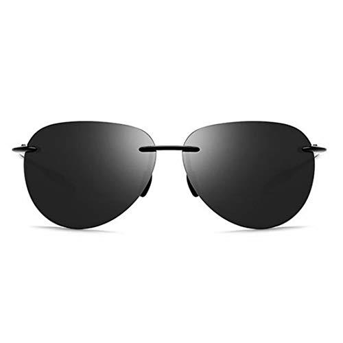 Stilvolle männer Polarisierte Sonnenbrille Frameless Design TR90 UV Schutz Sonnenbrille Für Fahren Baseball Laufen Radfahren Angeln Golf. Sonnenbrillen und flacher Spiegel ( Farbe : Grey )