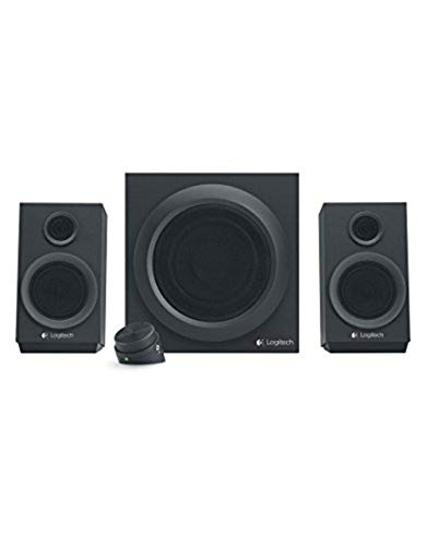Logitech Z333 Lautsprecher für Home Entertainment, schwarz (Cinch-surround-sound-fernbedienung)