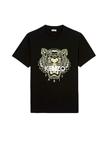 Kenzo T-Shirt pour Homme avec Logo imprimé Tigre, Noir, M