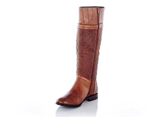 SPM Stiefel Montblanc High Boot Cuoio + Gratis Schuhpflege Braun