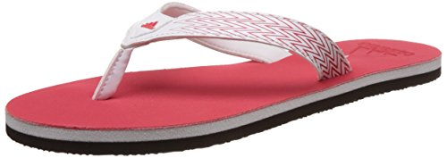 adidas Women's Brizo 4.0 Ws White and Rayred Flip Flops Moulded - House Slippers - 4 UK/India (36.7 EU)  available at amazon for Rs.399