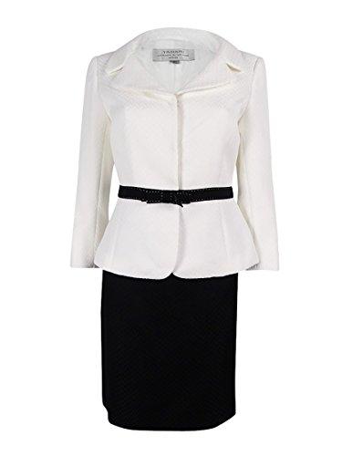 Tahari ASL Women's Three Button Jacquard Skirt Suit