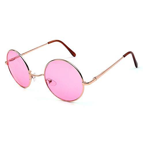 Zbertx occhiali da sole rotondi da donna retro oro argento nero montatura unisex occhiali da vista da donna uomo occhiali uv400,oro viola
