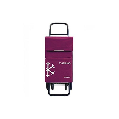 Rolser 4R.C Einkaufstrolley mit Kühltasche lila