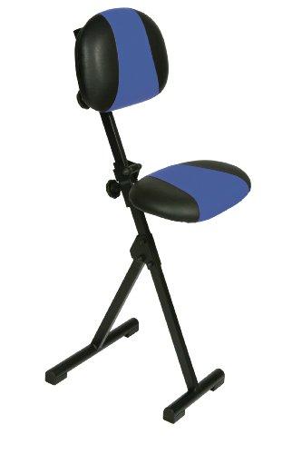 Stehhilfe, Zusmmenklappbar, Sitz und Rücken Kunstleder blau/schwarz