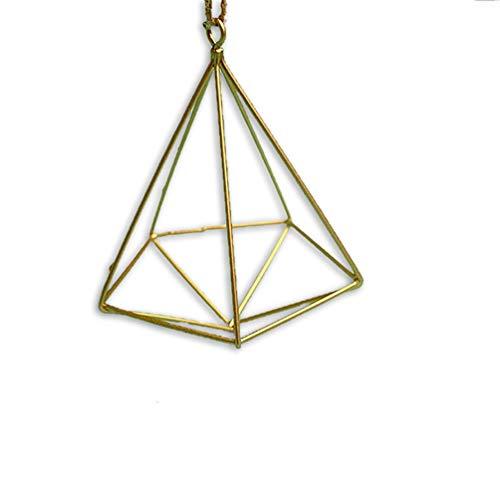 Wenwenzui Modern Design Suspend Macrame Plant Hanger Hand Iron Hanging Planter Basket Gold -