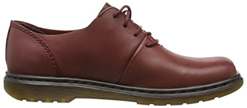 Dr. Martens Lorrie Oily Illusion Deep Red, Derby femme Rouge - Rot (Deep Red)