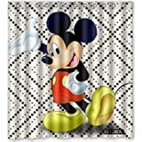 Outer-space ARTSWOW Modern stylish texture with Mickey-Mouse Custom Shower Curtain 66 x 72
