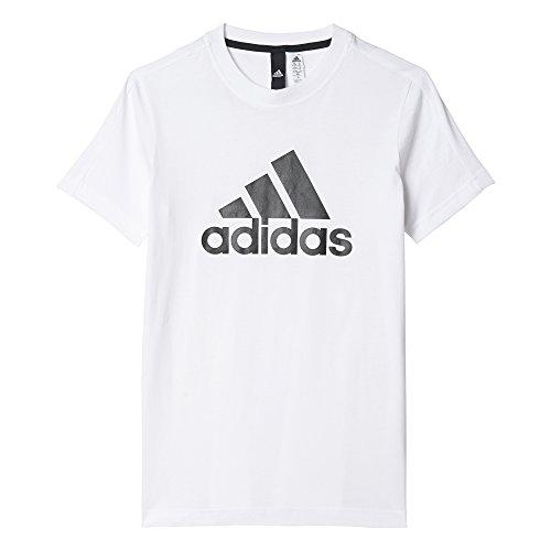 adidas Jungen YB Essentials Logo T-Shirt,  White/Black, DE : 13 - 14 Jahre(Herstellgröße : 164)