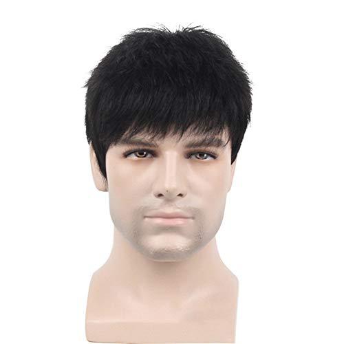 Herren Toupet Haarteil echthaar gerade Ersatz Thin Skin Boden Perücken -