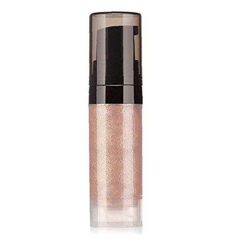 Líquido con brillo Textura Barra de labios Brillo Kit impermeable mejilla duradera larga de alta encendedor labial metálico Lustre cosmético-1pc champán melocotón
