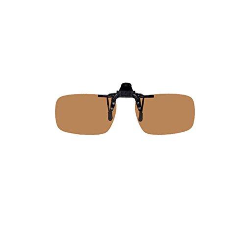 Minzhi Männer Frauen Daytime Nachtmetallclip-on polarisierte Linse Brille Kurzsichtigkeit UV-Schutz Filp up Clip Sonnenbrillen Brillen