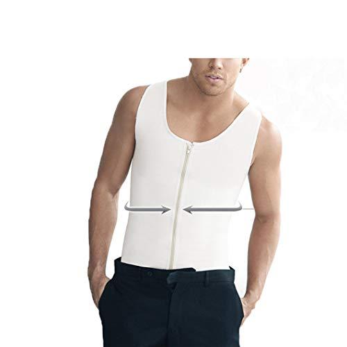 Mens Zipper Unterwäsche Latex Taille Cincher Fat Burning Control Abnehmen Fit Weste Body Shaper