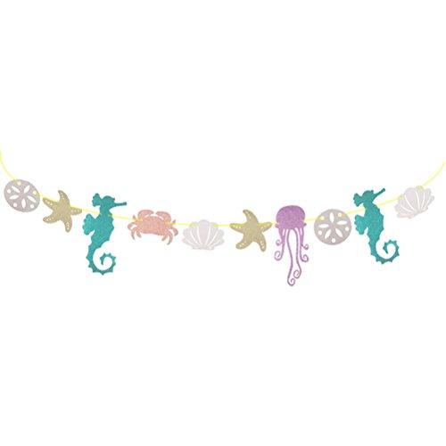 er Hawaiian Luau Garland Seepferdchen Qualle Seashell Krabbe Sea Star für Sommer Pool Kinder Geburtstagsparty Dekoration ()