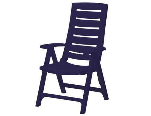 Jardin 212.167 recliners aruba, regolabile in 4 posizioni, plastica, blu