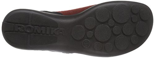 Romika - Maddy Home 03, Pantofole Donna Rosso (Rot (rot-schwarz 449))