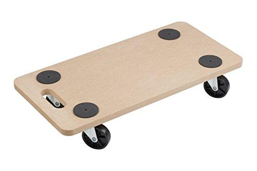 Meister Transportroller 590 x 290 mm ✓ 200 kg Tragkraft ✓ MDF-Platte ✓ PP-Räder | Möbelroller | Transporthilfe für Umzug | Rollwagen für Möbel-Transport | Kistenroller aus Holz | 820040