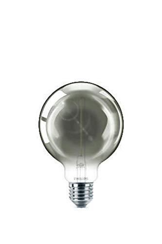 Philips LEDclassic Smoky 15W, E27, warmweiß (2000 Kelvin), 136 Lumen, Dekolampe LED Lampe, Glas, 2 W, Grau Tönung