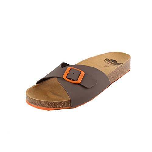 Scholl Spikey SS 4 Brown Orange Synthetic Nubuck Brown