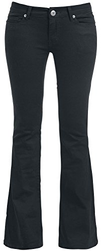 Gothicana by EMP Strapped Bootcut Pants Pantaloni donna nero W31L34