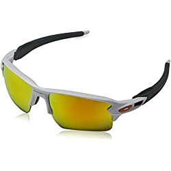 Oakley Sonnenbrille Flak 2.0 XL - Gafas de ciclismo, Blanco (Polished White), 59